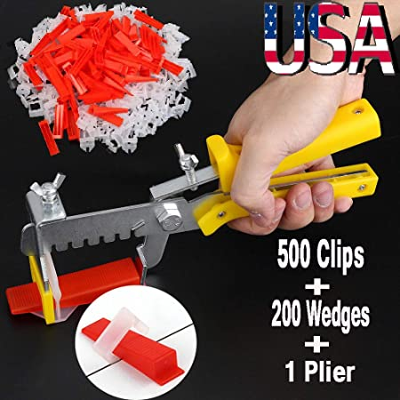 Tile Leveling Spacer System Tool /& Wedges /& Pliers Tool Tiling Floor /& Wall