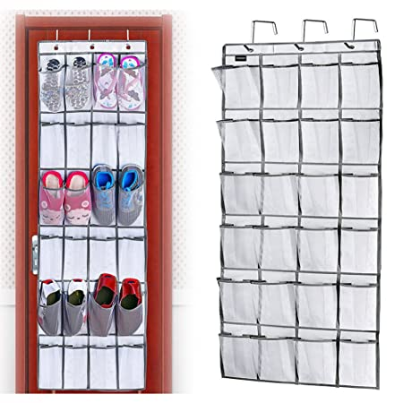 Shoe Racks Over Door Storage 24 Large Mesh Pockets Heavy Duty