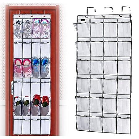 Shoe Racks Over Door Storage 24 Large Mesh Pockets Heavy Duty