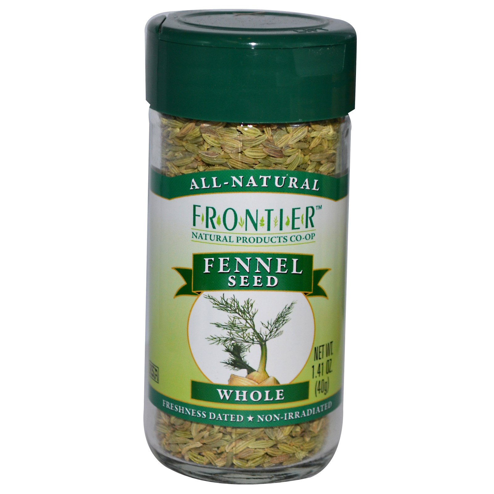 Frontier Natural Products, Fennel Seed, Whole, 1.41 oz (40 g) - 3PC