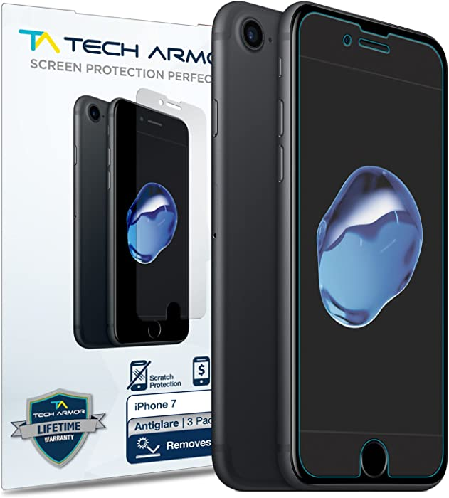Tech Armor Anti-Glare/Fingerprint Film Screen Protector for Apple iPhone 7 / iPhone 8 (4.7-inch) [3-Pack]