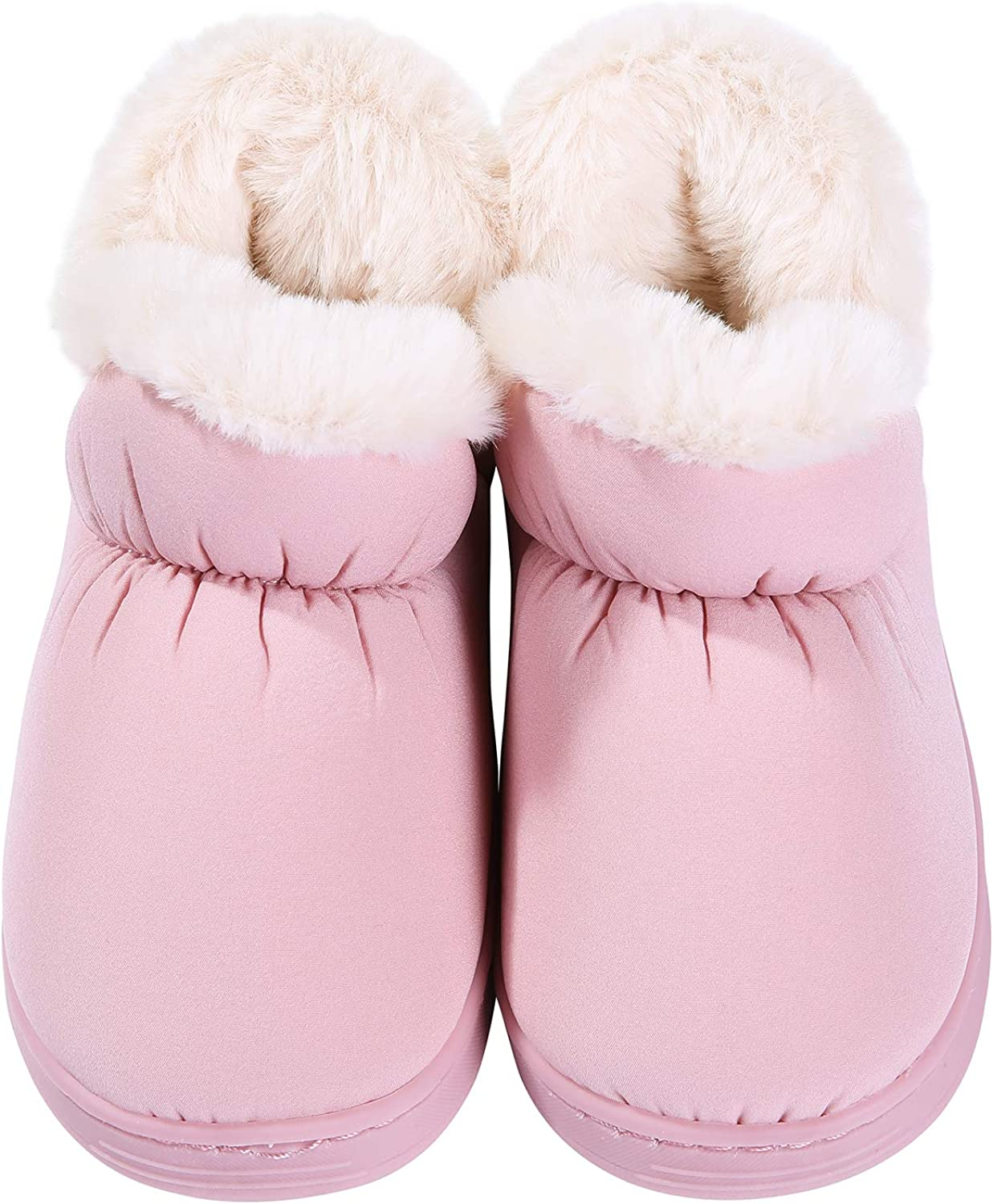 shevalues Little Girls Boys Winter Slippers Furry Ankle Home Shoes Toddler, Little Kid, 6-13.5 M