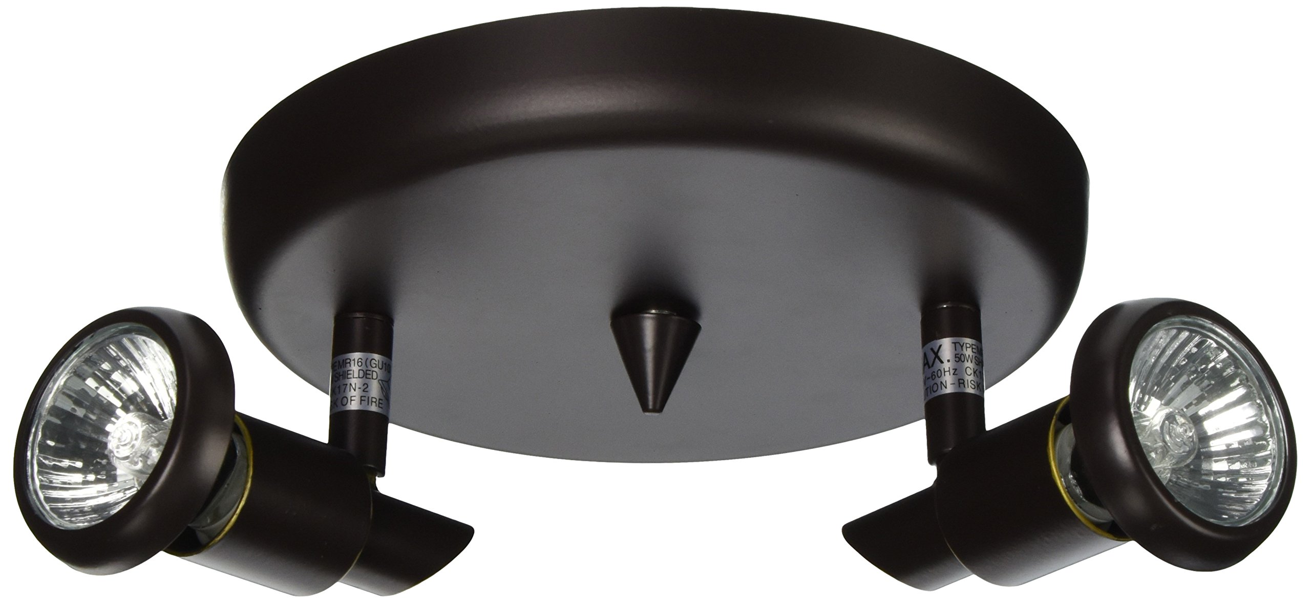 Artcraft Lighting Shuttle 2-Light Round Canopy Track Light, Oil-Rubbed Bronze