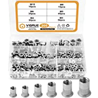 205-Pieces Vigrue 304 Stainless Steel Rivet Nut Assort Set
