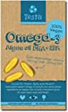 Testa Omega-3 - plant based DHA + EPA from Algae oil - Pure and Vegan Omega-3 - much Healthier than Fish Oil - 60 capsules