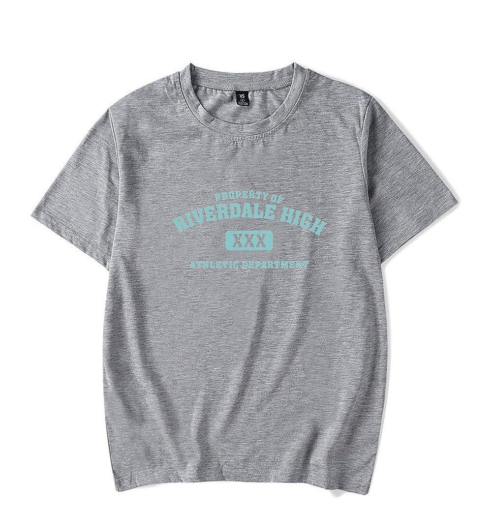 Tayaho Unisex Riverdale Southside Serpents Cotone Maglietta a Maniche Corte Casual Girocollo Top T-Shirt Estive Casual per Donna//Uomo