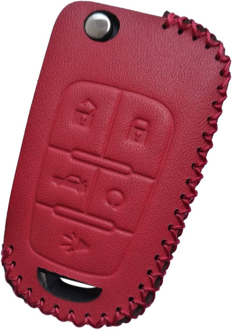 Red TPU Key Fob Cover Case Jacket Skin Glove Holder for Chevy Chevrolet Equinox Camaro Cruze Malibu Volt Park Impala Buick Regal Verano Lacrosse