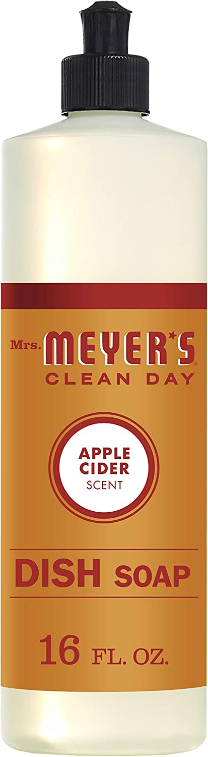 Mrs. Meyer's Clean Day Liquid Dish Soap, Apple Cider Scent, 16 ounce bottle