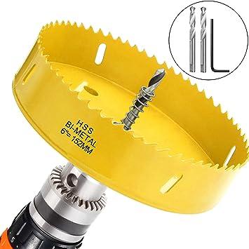 6 Inch Hole Saw Blade For Boards Corn Hole Drilling Cutter 152mm In Diameter Bi Metal Heavy Duty Steel Hex Shank Drill Bit Adapter By Starvast