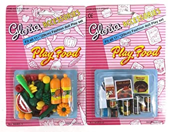 gloria doll house furniture set of 2 play food accessories set barbie size amazoncom barbie size dollhouse