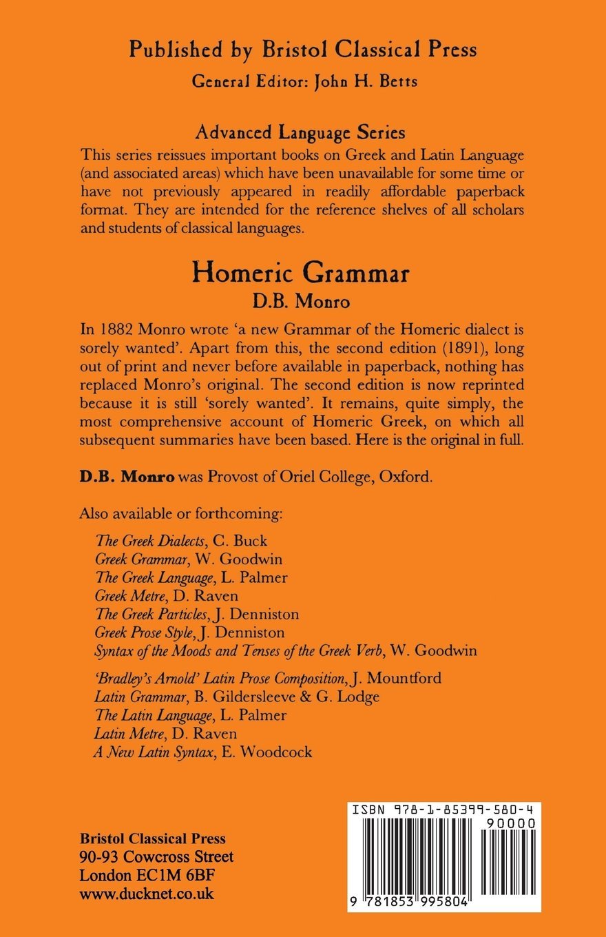 Homeric Grammar (Bcp Advanced Language S) by Bristol Classical Press