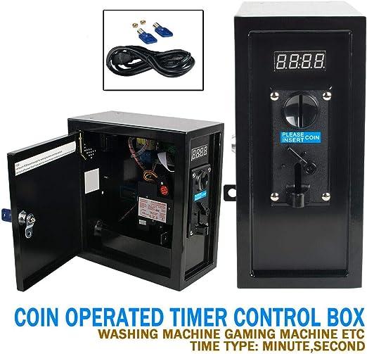 Temporizador 2 en 1 operado por monedas, caja de control de tiempo, dispositivo electrónico, selector de