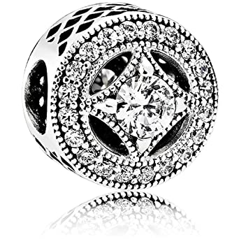 87b76d006 Image Unavailable. Image not available for. Color: Pandora Sterling Silver  Vintage Allure Charm 791970CZ