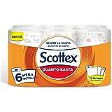 Scottex Quanto Basta - 6Maxi rollos de papel de cocina