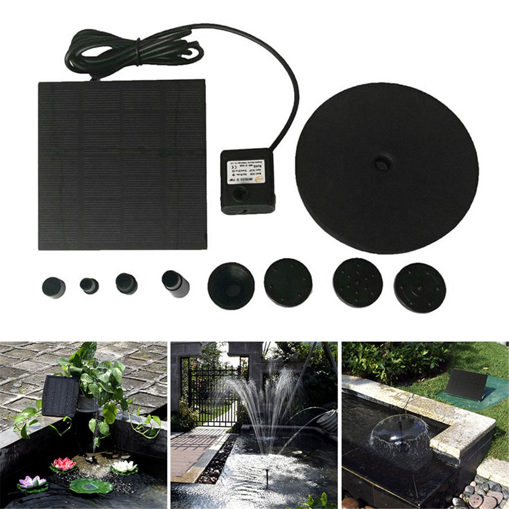 cheerfullus 1.5W Solar Powered Bird Bath Fountain Pump Solar Water Pump for Birdbath Small Pond Garden Decoration
