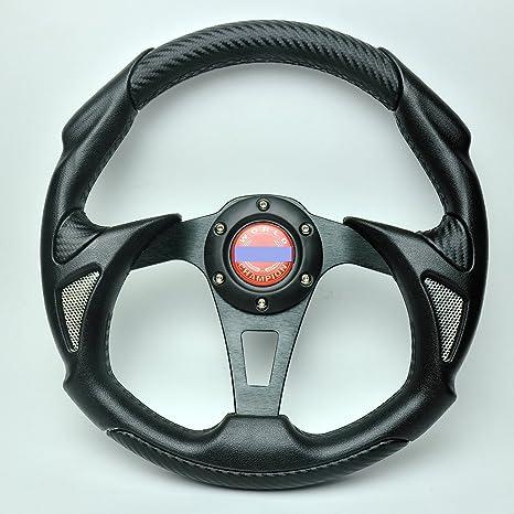 Liquor Car New 13 inch 320mm Aluminum Sport Race Racing Steering Wheel With Horn Button PU Carbon Fiber Color