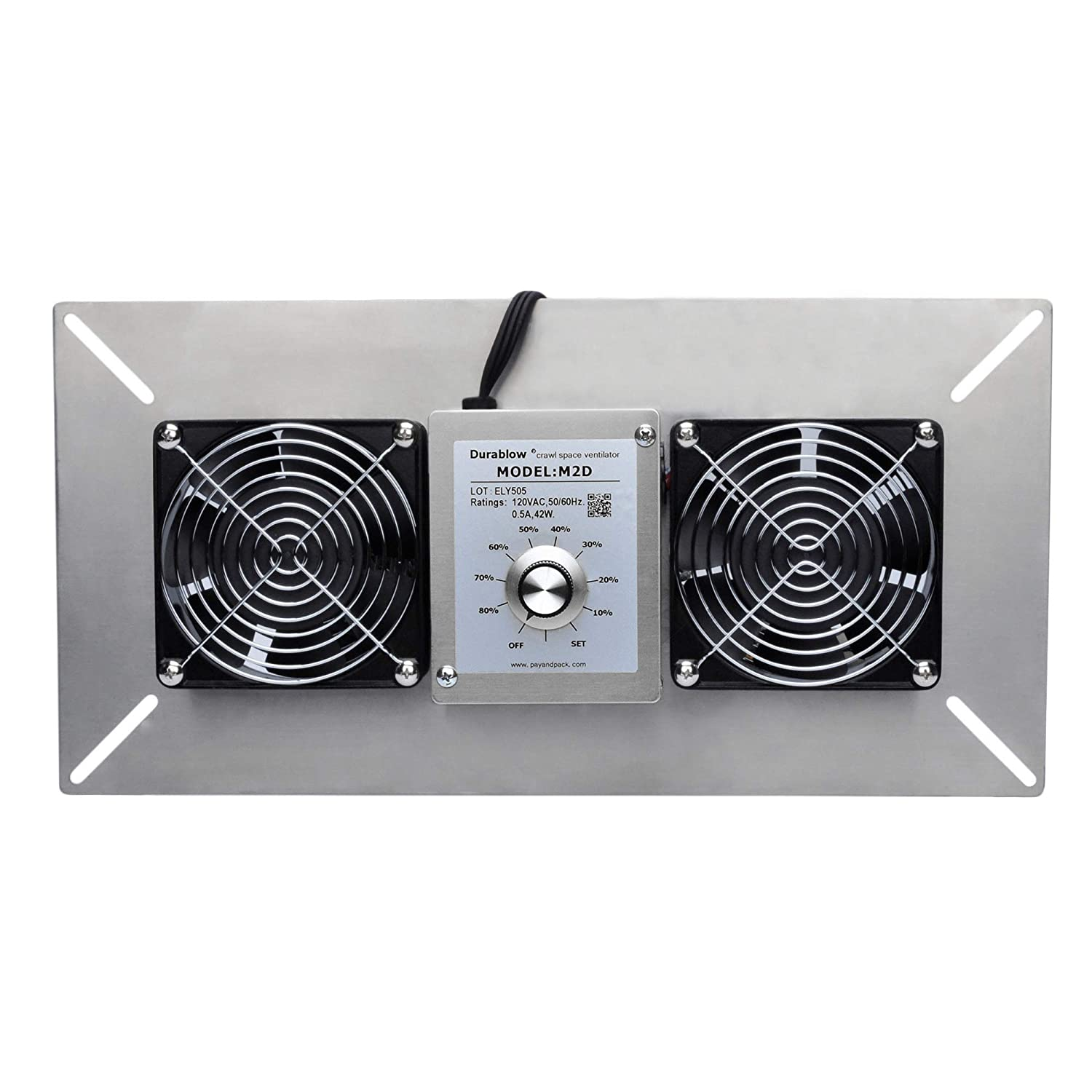 Durablow Crawl Space Foundation Dual Fans