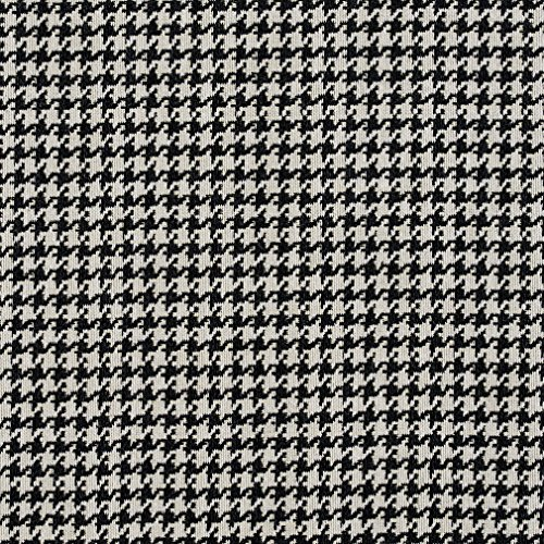 E854 Black and Off-White Classic Houndstooth Jacquard Upholstery Fabric By The Yard -