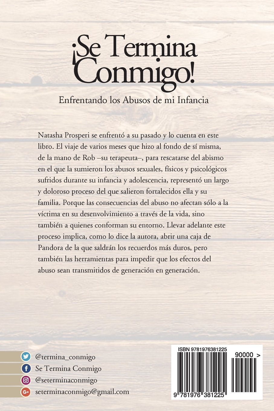 ¡Se Termina Conmigo! (Spanish Edition): Natasha Prosperi: 9781976381225: Amazon.com: Books