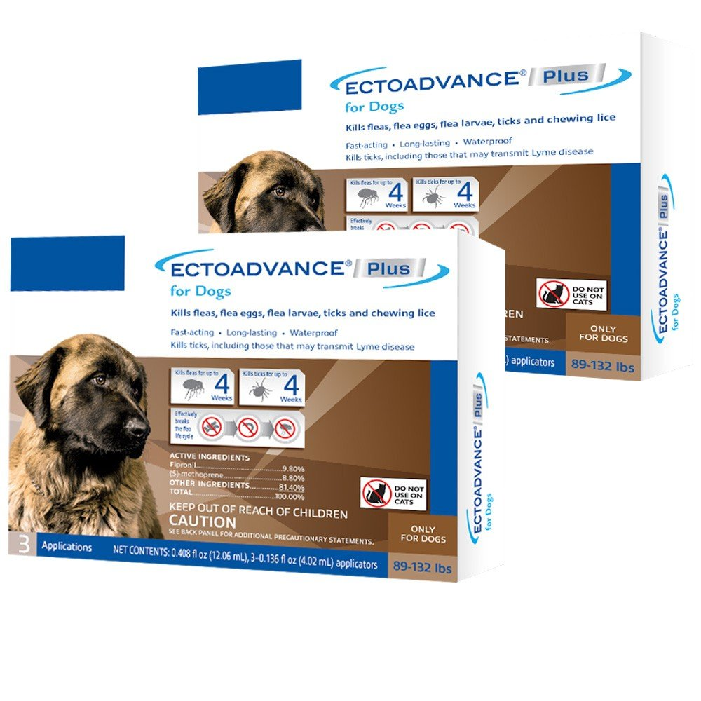 EctoAdvance Plus for Dogs 89132 lbs (6 Doses)