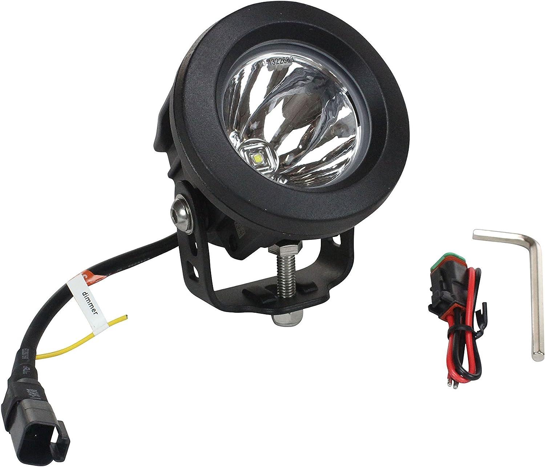 10 Watt LED 12-32V DC 650 Foot Spot Beam Round Housing High Intensity LED Light -Black-40/° Medium Flood
