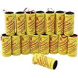 COM-FOUR® 16 rouleaux de papier tue-mouche -Piège à insectes, non toxique, écologique et hygiénique (16pièces)
