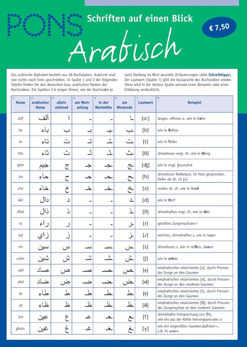 Außergewöhnlich PONS Schriften auf eine Blick: Arabisch: Amazon.de: Abdirashid A &XX_13
