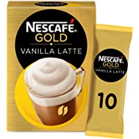 Nescafe Gold Cappuccino Vanilla Latte Coffee Mix 18.5g (10 Sachets)