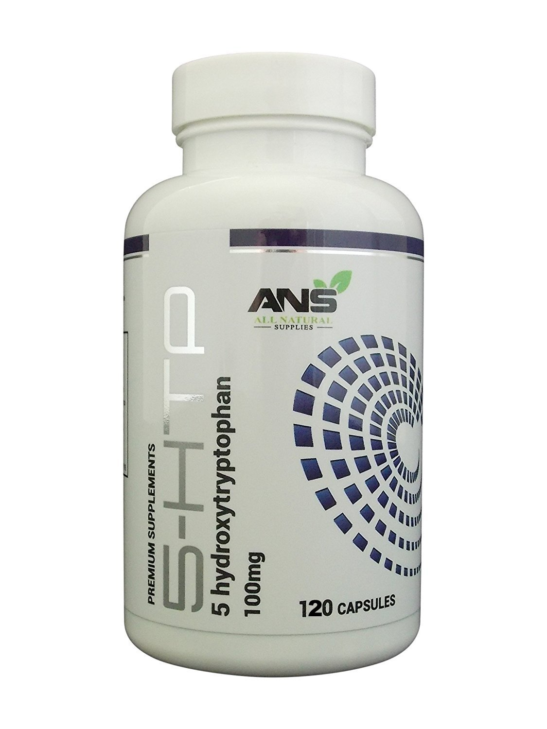 All Natural Supplies 5-htp 100mg - 120 high strength vegetarian capsules  per bottle - 4 month supply