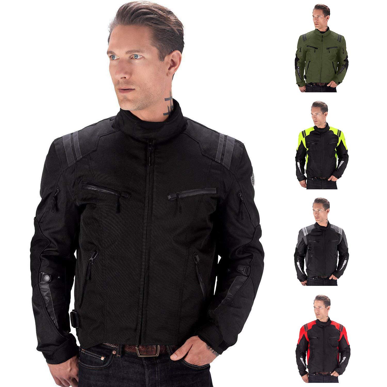 Viking Cycle Ironborn Motorcycle Textile Jacket for Men (Black, XXX-Large)