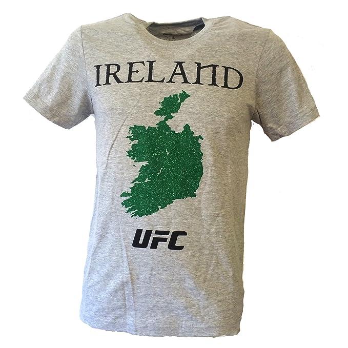 UFC CLEARANCE - Camiseta - Manga Corta - para Hombre Gris Gris Small