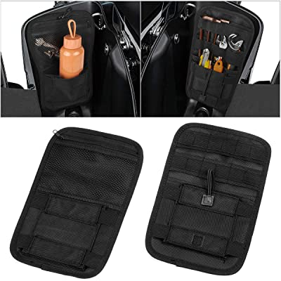 Motorcycle Internal Saddle Bags Organizer Storage Pouch Small Tools HardbagsTools Bags 1 Pair (Black): Automotive