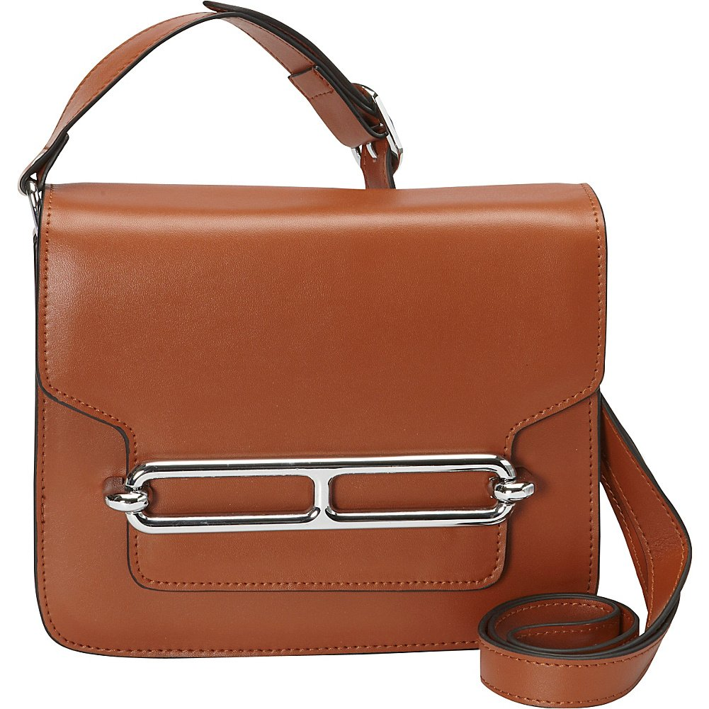 Donna Bella Designs Harper Leather Shoulder Bag, Brown
