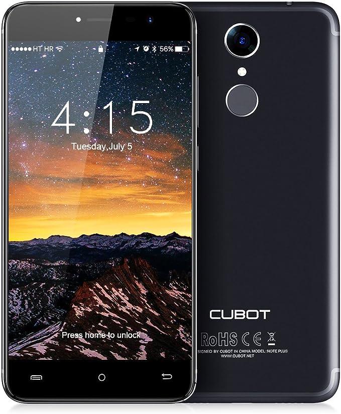 CUBOT NotePlus 4G Smartphone 5.2 Pulgadas/LTE Sin Contrato con Sensor de Huellas Dactilares/Cámara Trasera Dual ...