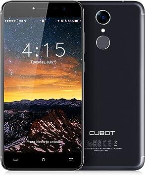 CUBOT NotePlus 4G Smartphone 5.2 Pulgadas/LTE Sin Contrato con Sensor de Huellas Dactilares/Cámara Trasera Dual/Android 7.0/ROM de 3GB RAM + 32GB/Bluetooth/WiFi(Negro): Amazon.es: Electrónica