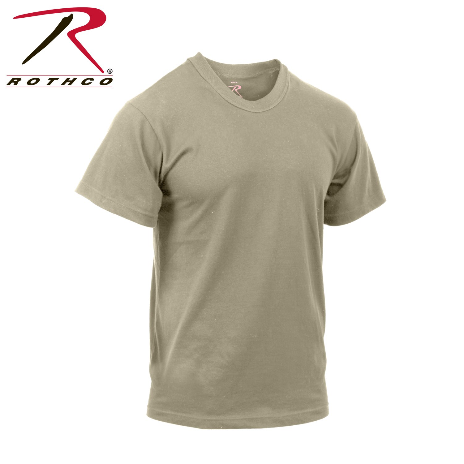 Rothco Moisture Wicking T-Shirt, Sand, Large