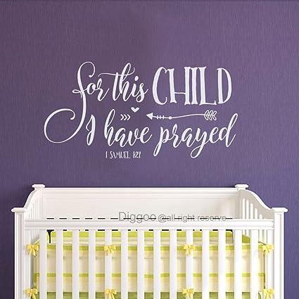 Amazon.com: Diggoo For this child I have prayed 1 SAMUEL 1:27 Wall ...