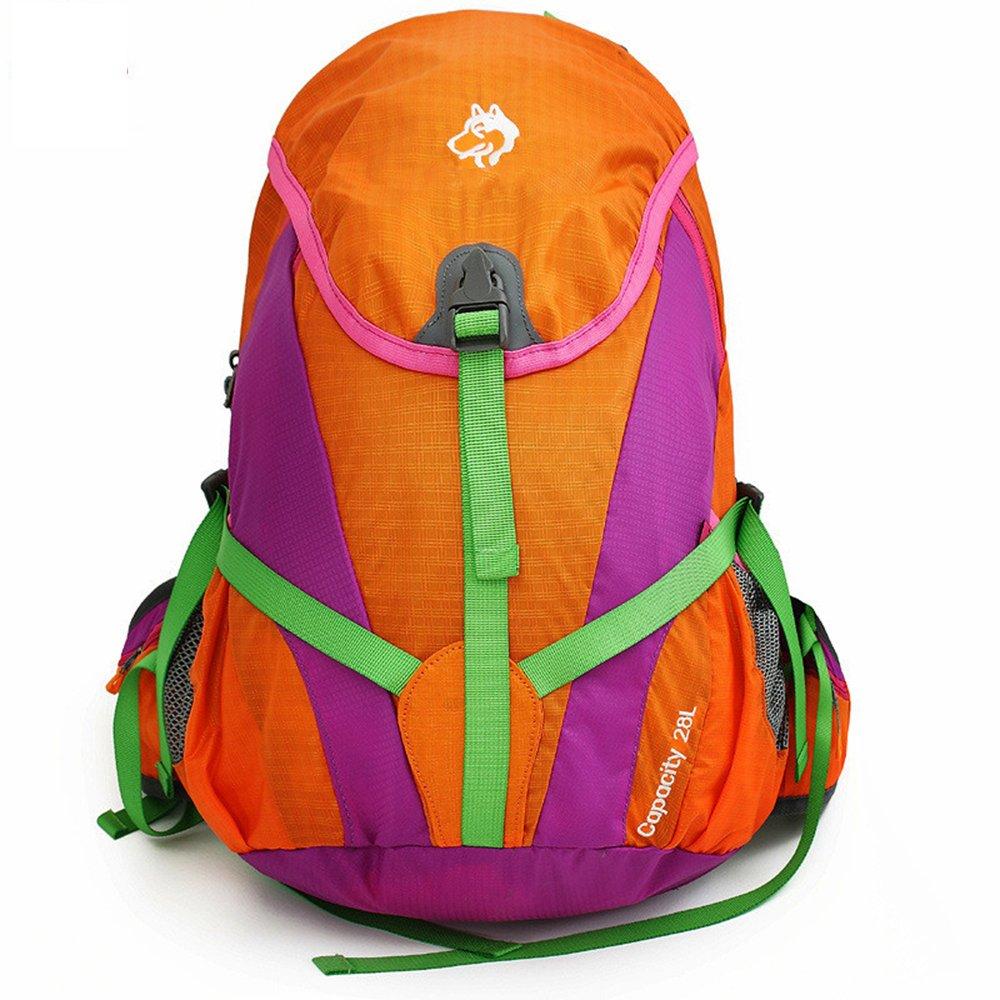 fhgj登山バックパック28lアウトドアスポーツバックパックハイキングキャンピングバッグ男性と女性旅行バックパック  オレンジ B07D5BWPGL