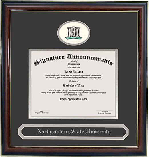 Signature Announcements Northeastern-University Undergraduate Sculpted Foil Seal /& Name Graduation Diploma Frame 20 x 20 Gold Accent Gloss Mahogany