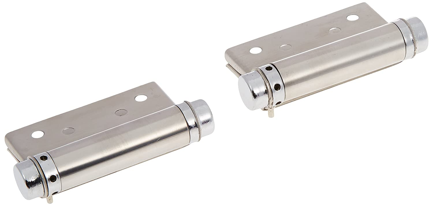 Stainless Steel 93mm x 48mm x 18mm Spring Loaded Hinge 2 Pcs