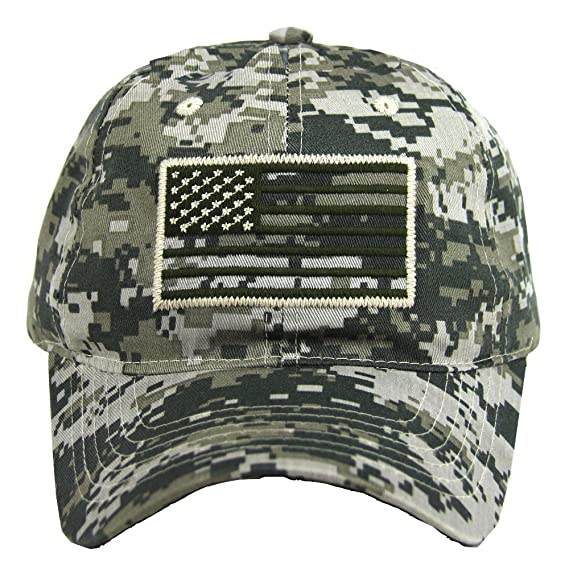 5678ea4d6cc USA American Flag Baseball Cap Military Army Operator Adjustable Hat (Acu.  Camo)