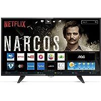 """Smart TV LED 43"""" FHD com WiFi 2 USB 3 HDMI Digital Controle com Botão Netflix, AOC LE43S5970, Preto"""