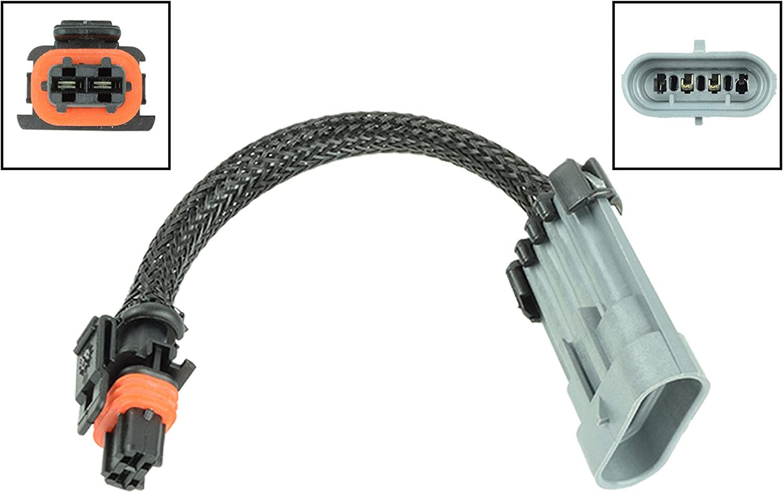 LS 4-Flat Alternator Wire Connector Pigtail Plug