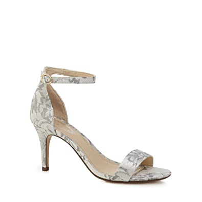Pale grey lace 'Daisy' high stiletto heel ankle strap sandals get to buy for sale genuine cheap Manchester iwbVC7GfwV
