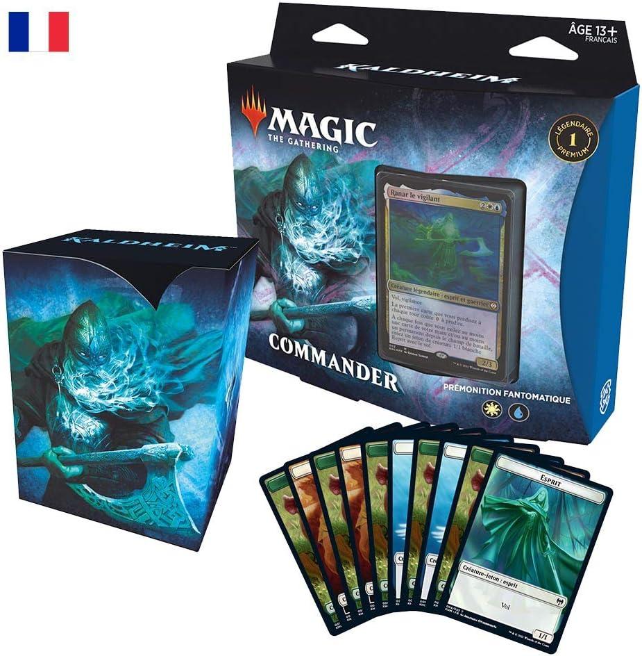Deck de 100 Cartes pr/êt-/à-Jouer Bleu-Blanc Pr/émonition fant/ôme Magic The Gathering Commander Kaldheim