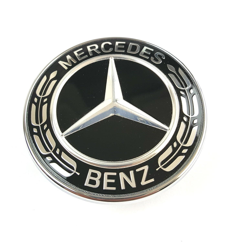 nero Emblema originale Mercedes Benz per cofano