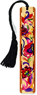product image for Floral - Bright Colorful Flowers - Wooden Bookmark with Tassel - Search B07QHCDC88 to See Personalized Version