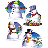 Beistle 4-Pack Snowman Cutouts, 16-Inch