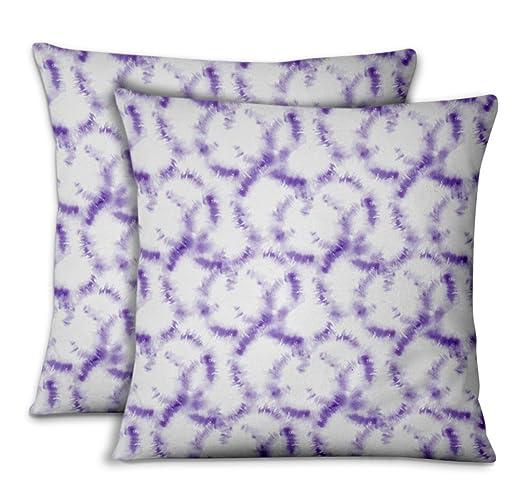 S4Sassy Purpura Popelina de Algodon Rayos Cojines ...