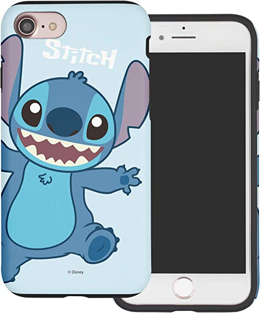 WiLLBee Compatible with iPhone SE 2020 / iPhone 8 / iPhone 7 Case (4.7inch) Layered Hybrid [TPU PC] Bumper Cover - Stitch Smile